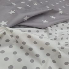 Estampadas Tela Estrellas y Puntos