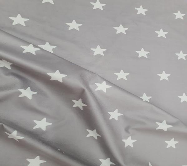 Tela Estrellas y Puntos Gris