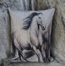 Horse blanco y negro