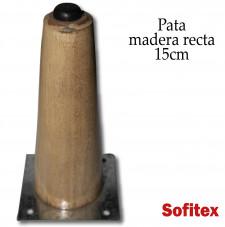 Insumos de tapiceria Pata madera recta de 15cm