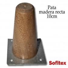 Insumos de tapiceria Pata madera recta 10cm