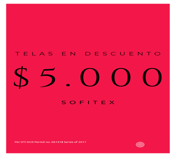 Telas en promoción $5.000