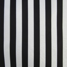 Tela blanca y negra rayas